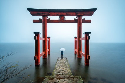Hakone Shrine in Japan