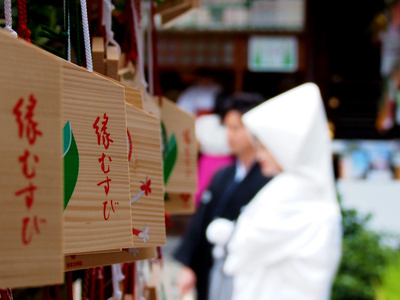 結婚式、神社
