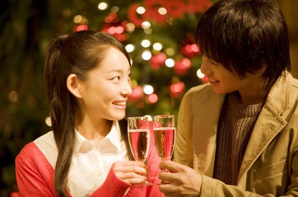 クリスマス、冬、デート
