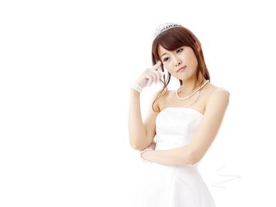 花嫁、ウエディングドレス