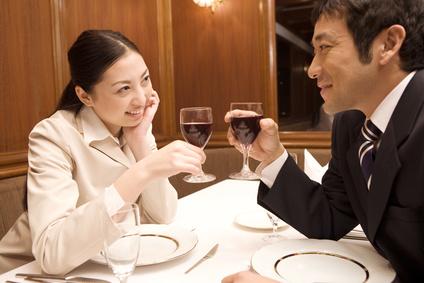 デート、ワイン