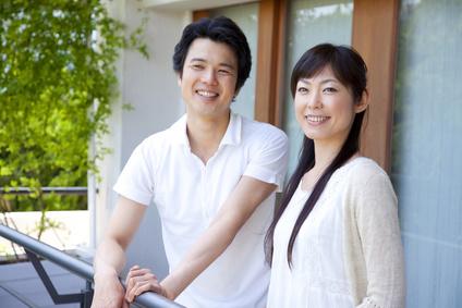笑顔の夫婦・カップル