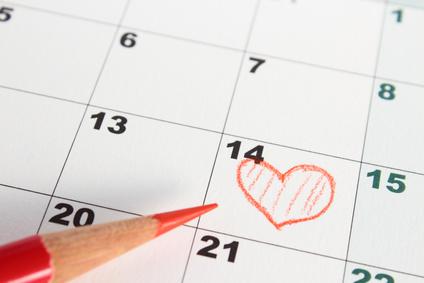 カレンダー、デート予定