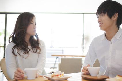 会話、デート、カフェ