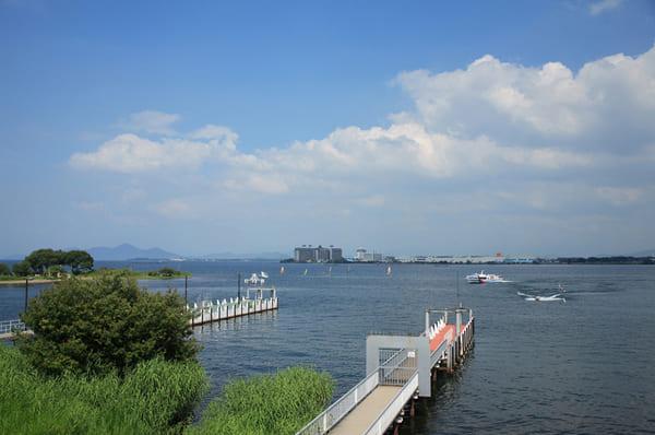琵琶湖、滋賀県、旅行