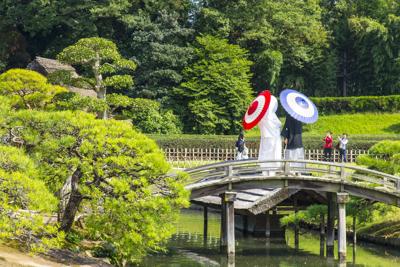 結婚式、岡山城