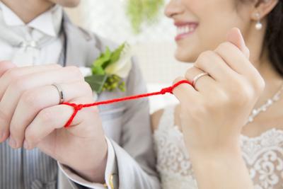 運命の赤い糸、結婚、指輪
