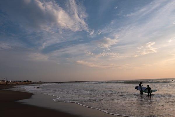 海、サーフィン、房総