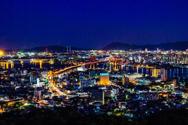 夜景、北九州、門司